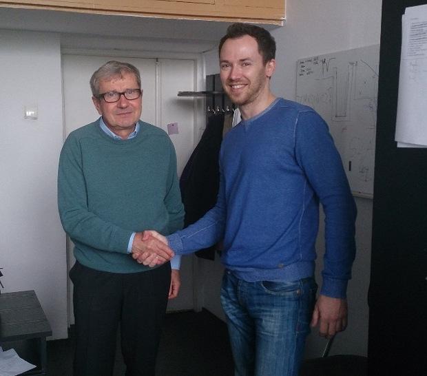 profesor Jan Stanek i Karol Tomczyk z Open Future